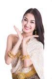 Thai Lady in vintage original Thailand attire Royalty Free Stock Photos