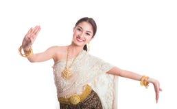 Thai Lady in vintage original Thailand attire Royalty Free Stock Photography