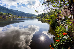 Thai Lagoon. The name of villages in Lop Buri, Mae Hong Son, Thailand Royalty Free Stock Images