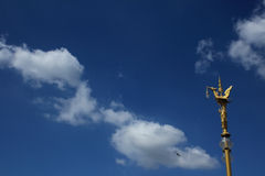 Thai lamp in the sky Royalty Free Stock Images