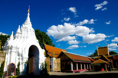 Thai Lanna Hariphunchai temple Stock Photos