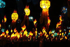 Thai lanna lantern. On yeepeng festival Stock Images