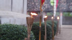 Thai lanna oil lantern stock footage