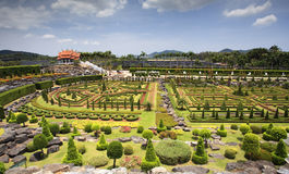 Thai Lanna pavilion in the big garden Stock Photo