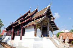 Thai Lanna style church with blue sky Stock Images