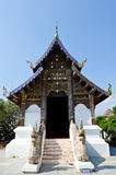 Thai Lanna style church with blue sky Royalty Free Stock Photos