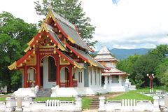 Thai Lanna style church at Wat Salang,Thailand Stock Photo