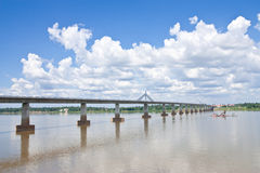 Thai - Lao Friendshiop Bridge Royalty Free Stock Images
