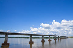Thai - Lao Friendshiop Bridge Stock Image