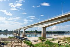 Thai-lao friendship bridge Royalty Free Stock Image