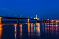 Thai - lao friendship bridge across the mekong river on mukdahan, thailand Stock Image