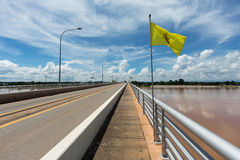 Thai-Lao Friendship Bridge Stock Photo