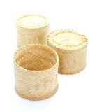 Thai laos bamboo sticky rice container Royalty Free Stock Image