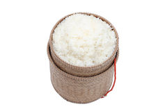 Thai laos bamboo sticky rice container Stock Image