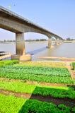 Thai-Laos Friendship Bridge. Across border Stock Photography