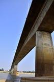 Thai-Laos Friendship Bridge. Across border Royalty Free Stock Photography