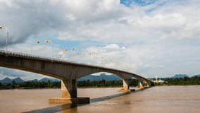 Thai Laos friendship bridge Stock Photo