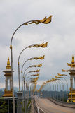 Thai Laos friendship bridge Royalty Free Stock Photo