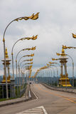 Thai Laos friendship bridge Stock Image
