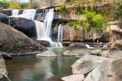 Thai-Laos waterfall Stock Photo