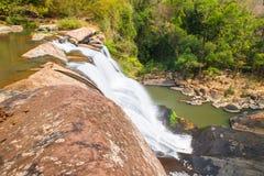 Thai-Laos waterfall Royalty Free Stock Image