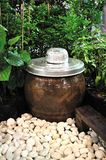 Thai large earthen jar Stock Photography