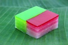 Thai layer cake dessert Royalty Free Stock Photo