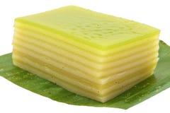 Thai layer cake isolated on white background Stock Image