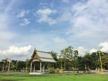 Thai leisure area. In a Temple in Thailand Royalty Free Stock Images