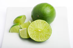 Thai lime slices Stock Images