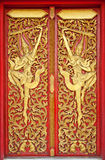 The Thai line of Thai temple doors Stock Photo