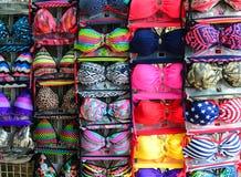 Thai lingerie underwear shop at market Royalty Free Stock Photo