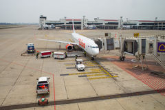 Thai Lion Air Plane landed at Don Mueang International Airport Stock Photo