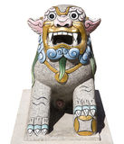 Thai lion statue isolated Stock Photos