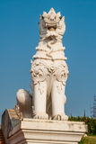Thai lion statues antique Royalty Free Stock Image