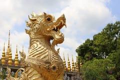 Thai lion Statue. Thai lion Stetue in temple Stock Images
