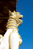 Thai literature Lion statue, Travel in Thailand. Thai literature Lion statue, Travel in Chiang Rai, Thailand Royalty Free Stock Image