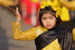 Thai little girl dancer Royalty Free Stock Image