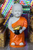 Thai Little Monk Statue Royalty Free Stock Image