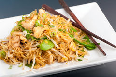 Thai Lo Mein Noodles Stock Photos