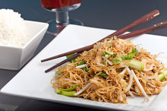 Thai Lo Mein Noodles Royalty Free Stock Image