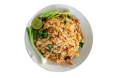 Thai local food, pork fried rice. Royalty Free Stock Photo