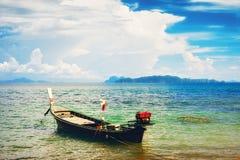 Thai Long Boat Stock Photo