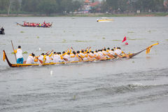 Thai long boat traditional compete Royalty Free Stock Photo