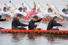 Thai long boat traditional compete Royalty Free Stock Photos
