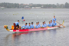 Thai long boat traditional compete Stock Photography