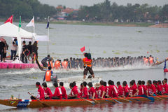 Thai long boat traditional compete Stock Image