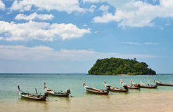 Thai Long Boats Stock Images