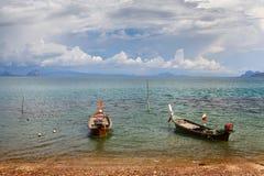 Thai Long Boats Stock Image