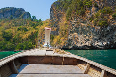Thai long tail boat in a sea Stock Photo